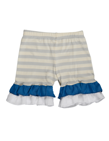 Persnickety Spring 2017 A Bushel in a Peck Striped Marley Knit Ruffle Shorts