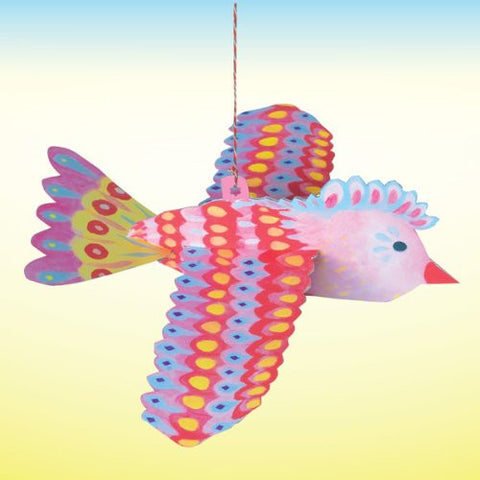 eeBoo Pink Floating Bird Decor - Cute Designer Children's Clothing