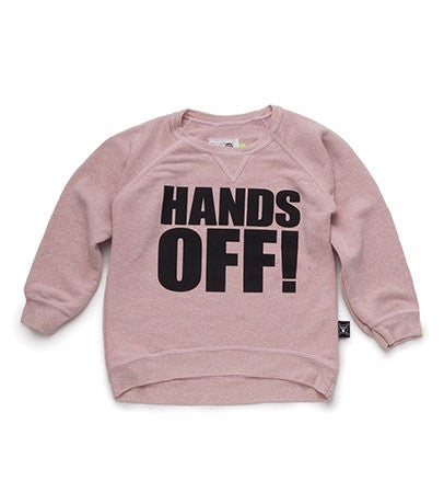 Nununu Powder Pink Hands Off! Pullover Sweatshirt