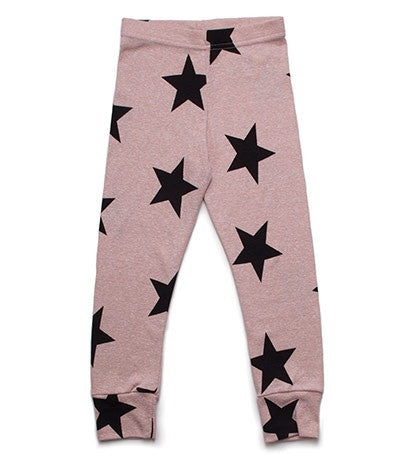Nununu Powder Pink Star Leggings