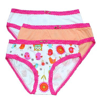 ESME Birds & Owls 3pk Girls Underwear Set - Cute Designer Children's Clothing