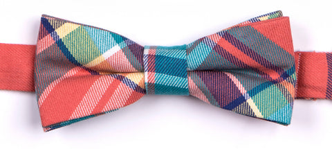 Appaman Boys Teal Plaid Bow Tie