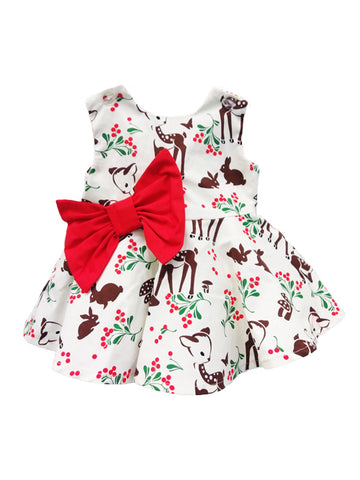 Fiveloaves Twofish Holiday Reindeer Party Dress