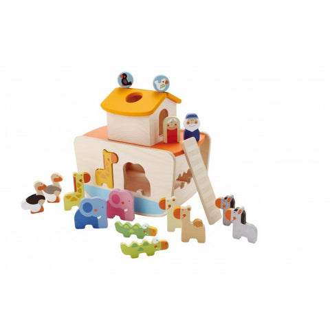 Sevi Noah's Ark Wooden Shape Sorting Toy - Little Luna Blue  - 1