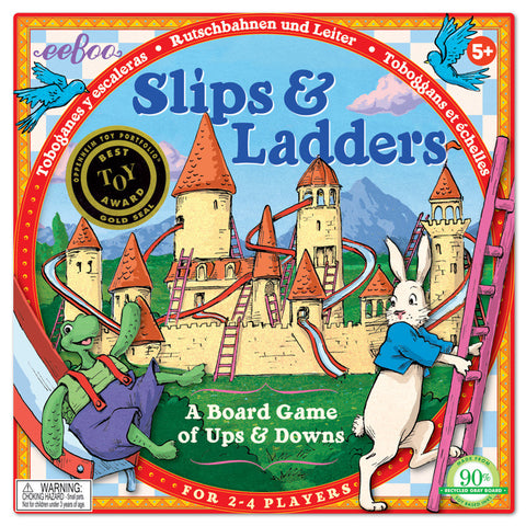 eeBoo Slips and Ladders Board Game - Cute Designer Children's Clothing