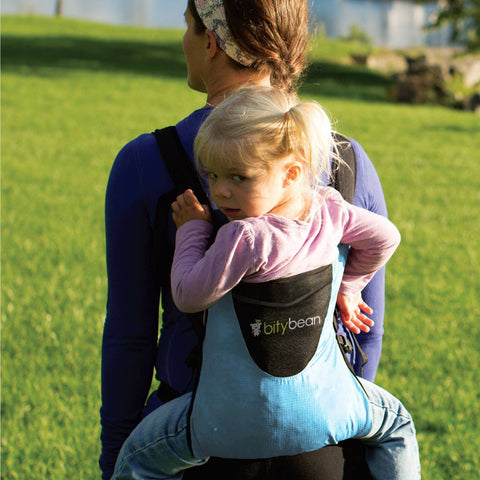 Bity Bean Compact Baby Carrier - Sky Blue - Cute Designer Children's Clothing