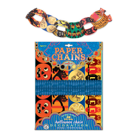 eeBoo Vintage Illustrated Halloween Paper Chains - Cute Designer Children's Clothing