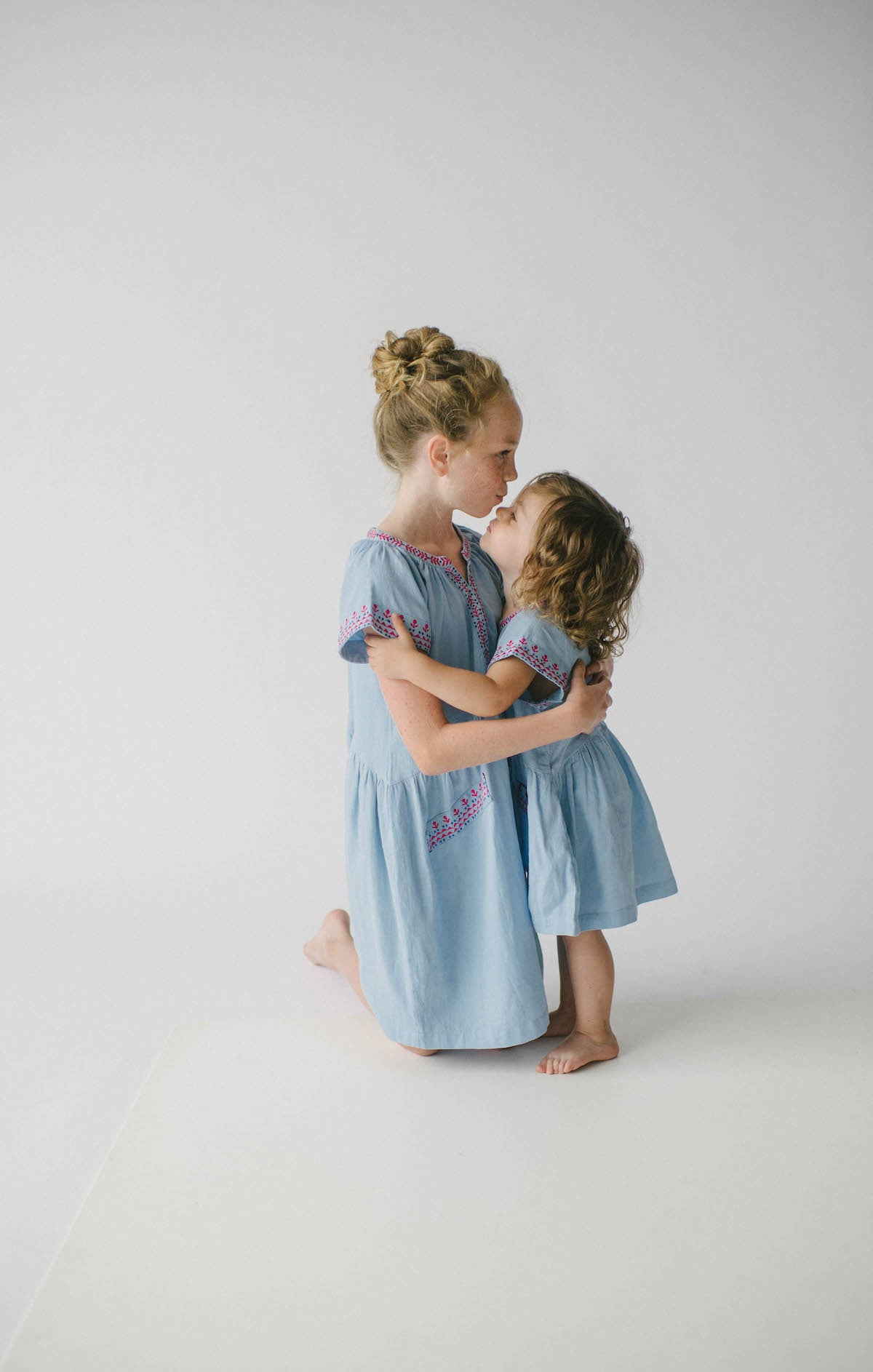 Lali Kids Embroidered Skye Pocket Dress Little Luna Blue
