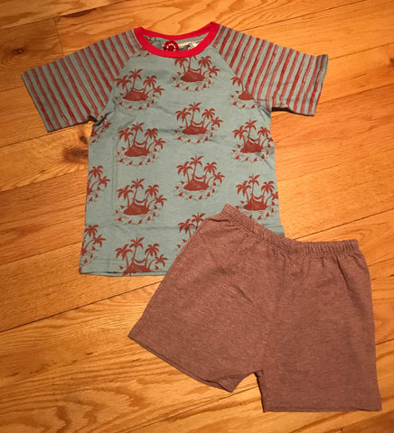 Paper Wings Boys Palms Short Sleeve Play Set