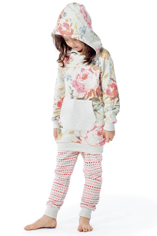 Paper Wings Fall 2017 Girls Vintage Rose Hoodie Tunic