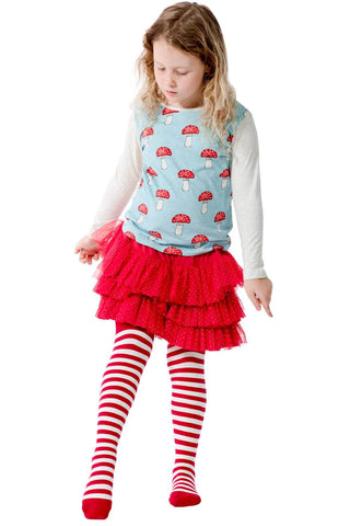 Paper Wings Fall 2017 Girls Red Stripe Tights
