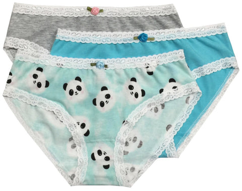 ESME Panda 3pk Girls Underwear Set - Cute Designer Children's Clothing