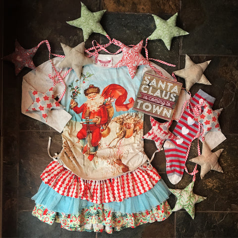 Paper Wings Holiday Magic Frilled Skirt *EXCLUSIVE*