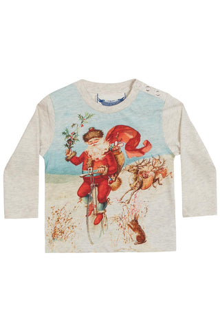 Little Wings Fall 2017 Unisex Vintage Santa Tee