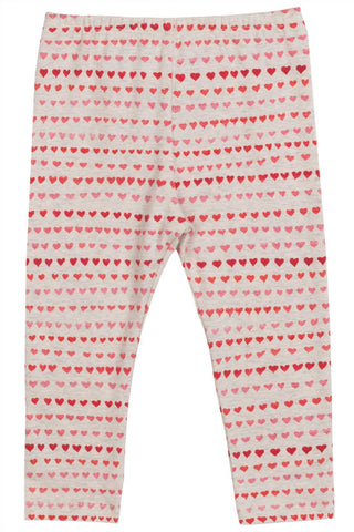 Little Wings Fall 2017 Girls Red Heart Stripe Leggings