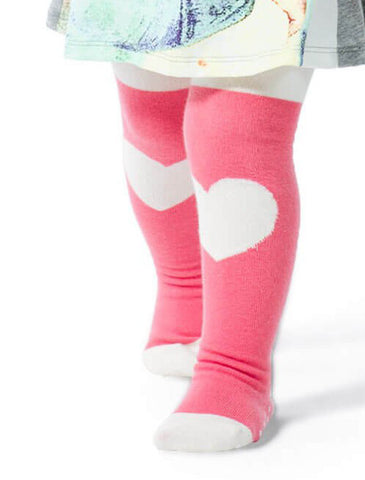 Little Wings Fall 2017 Girls Pink Heart Tights