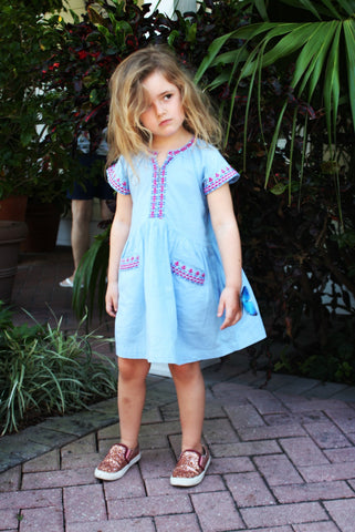 Lali Kids Embroidered Skye Pocket Dress