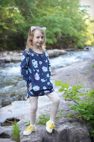Missie Munster Kids Girls Water Floral Birdy Tunic Dress