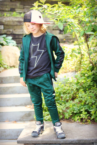 Munster Kids Boys Green Performer Track Pants
