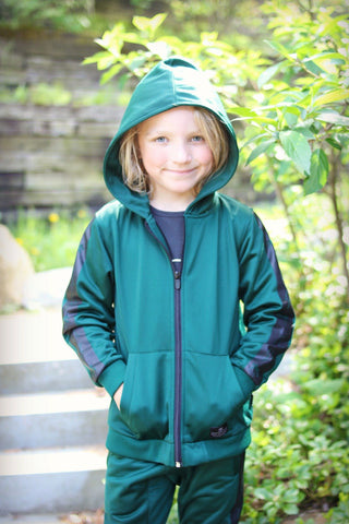 Munster Kids Boys Green Trainer Performance Jacket