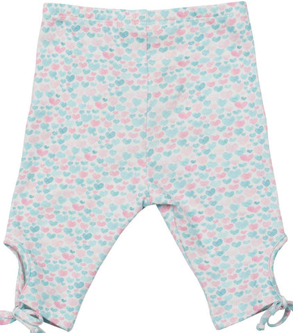 Little Wings Spring 2017 Girls Watercolor Hearts Keyhole Leggings