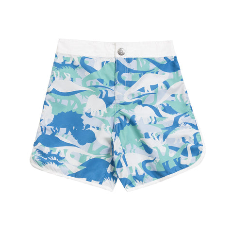 Paper Wings Boys Blue Camo Board Shorts - Little Luna Blue  - 1