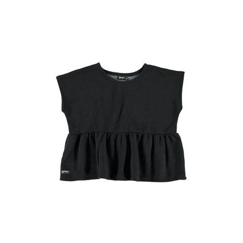 yporque Black Peplum Top