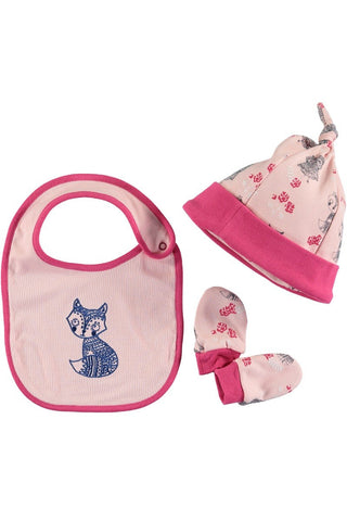 Rockin' Baby Cozy Forest Bib 3pc Set - Little Luna Blue