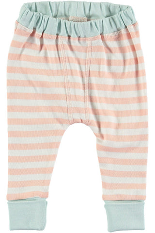 Rockin' Baby Crawlin' Pink Stripe Legging Pants - Little Luna Blue