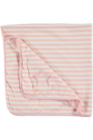 Rockin' Baby Warmin' Pink Stripe Blanket - Little Luna Blue