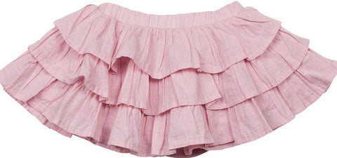 Little Wings Spring 2017 Girls Pink Frilled Voile Skirt