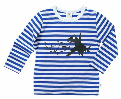 Hootkid Boys Striped Better Watch Out Tee - Cute Designer Children's Clothing