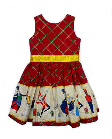 Fiveloaves Twofish Nutcracker Border Dress