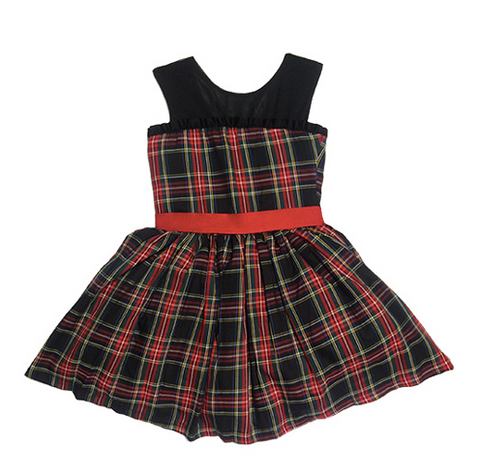 Fiveloaves Twofish Tartan Party Dress