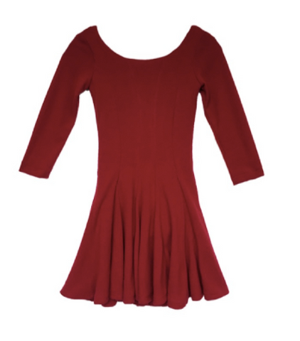 Fiveloaves Twofish Cranberry Traveler Skater Dress