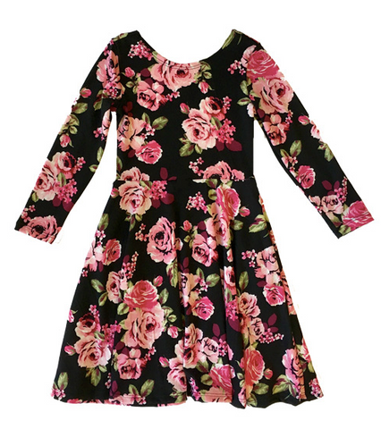 Fiveloaves Twofish Floral Ballerina Skater Dress