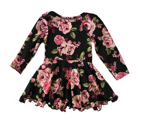 Fiveloaves Twofish Floral Ballerina Skater Baby Dress
