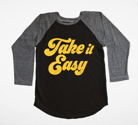 Tiny Whales Take It Easy Raglan Tee