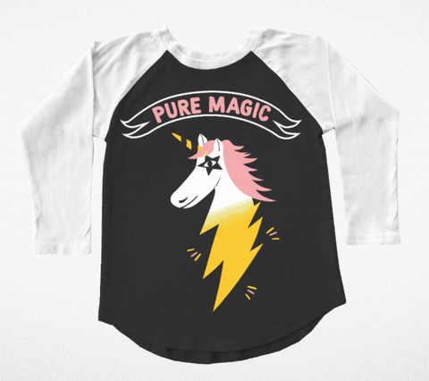 Tiny Whales Pure Magic Unicorn Raglan Tee