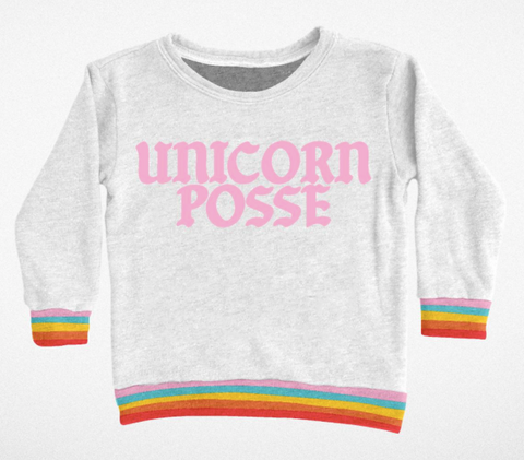Tiny Whales Unicorn Posse Sweatshirt Top