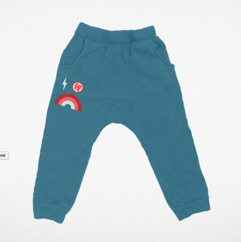 Tiny Whales Teal Dreamer Jogger Pants