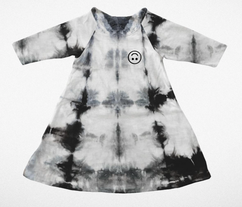 Tiny Whales Tie Dye Happy Swing Dress