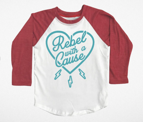 Tiny Whales Rebel With A Cause Raglan Tee