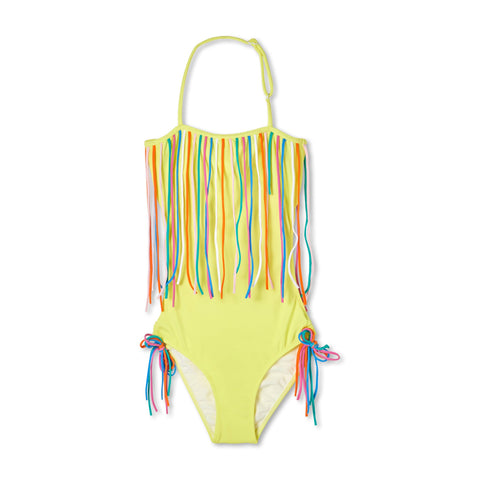 Stella Cove Yellow String Fringe Swimsuit