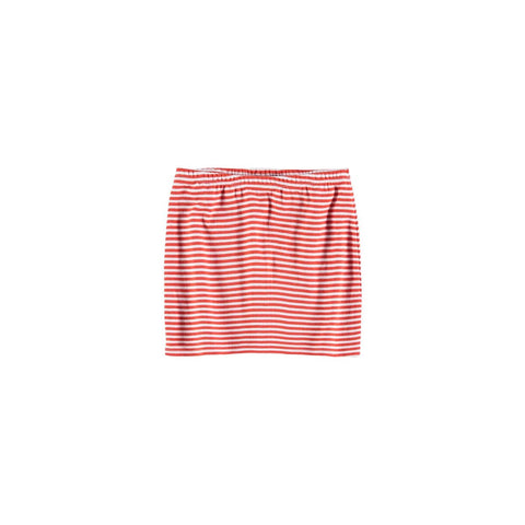 Yporque Red Striped Tube Skirt
