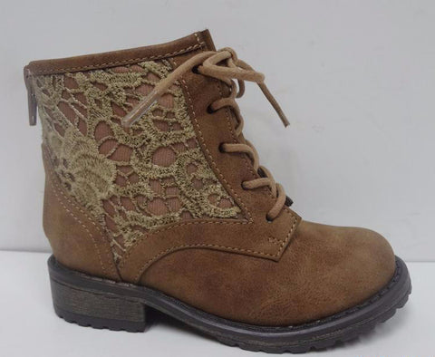 Steve Madden Cognac Lace JTheorie Toddler Boots - Little Luna Blue