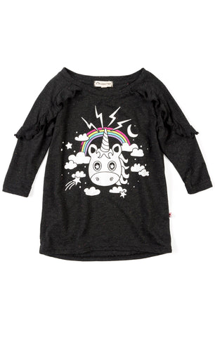 Appaman Girls Fall Unicorn Rainbow Amelie Top