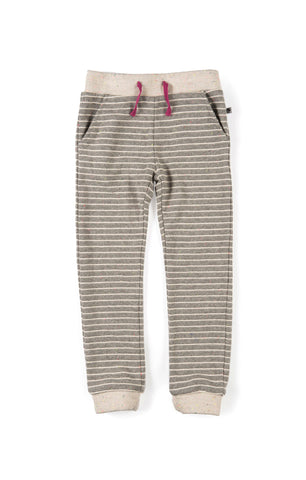 Appaman Girls Fall Slate Stripe Stanton Jogger Pants