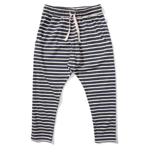 Missie Munster Kids Girls Soft Black Stripe Rise Pants