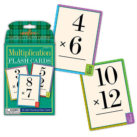 eeBoo Multiplication Flash Cards - Cute Designer Children's Clothing